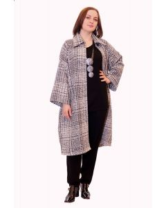 OPEN COAT TWEED
