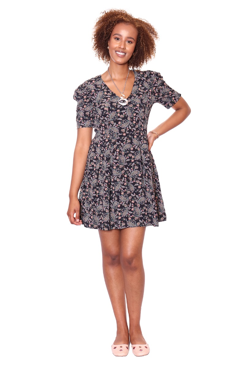 PAISLEY SHORT DRESS